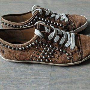 Frye Kira Studded Leather Sneakers 7